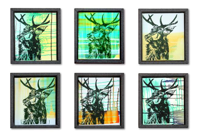 """""""Alpha"""" paintings (series of 6)"""