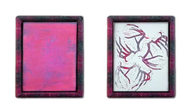 """""""Vestige"""" paintings (series of 2)"""