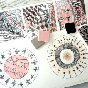 sketch book & test tiles
